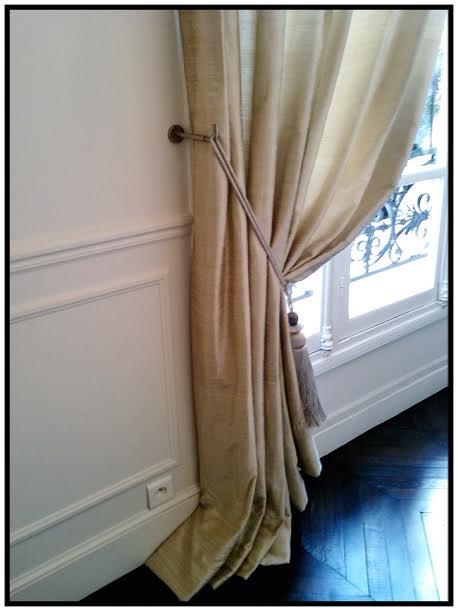 Paire de rideaux en soie sauvage
